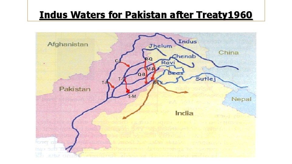 Indus Waters for Pakistan after Treaty 1960 R-Q C-J T-P Q-B T-S M-R B-S