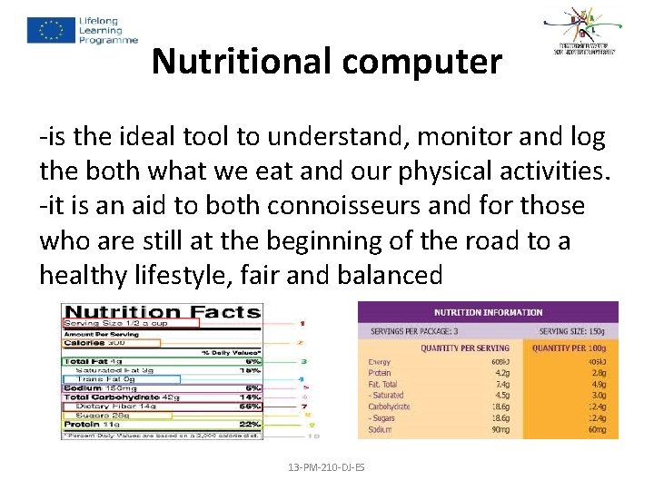 Nutritional computer -is the ideal tool to understand, monitor and log the both what