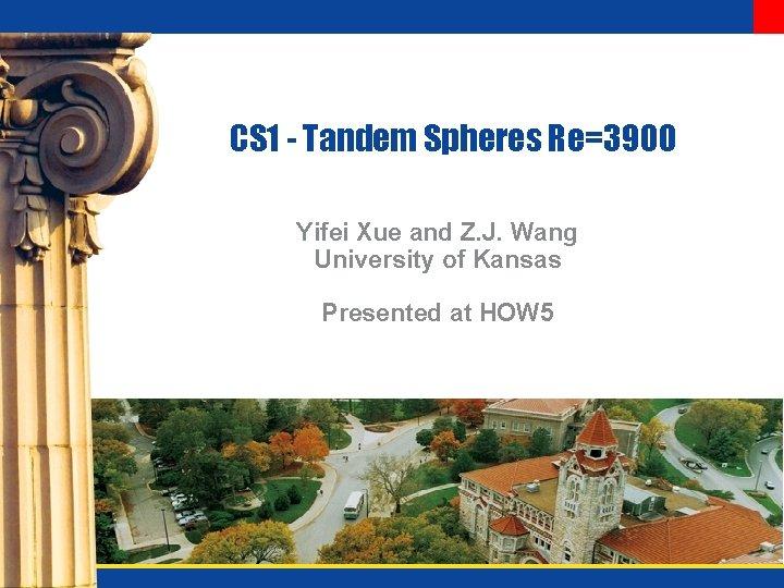 CS 1 - Tandem Spheres Re=3900 Yifei Xue and Z. J. Wang University of