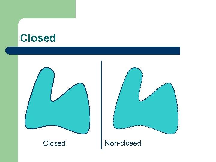 Closed Non-closed
