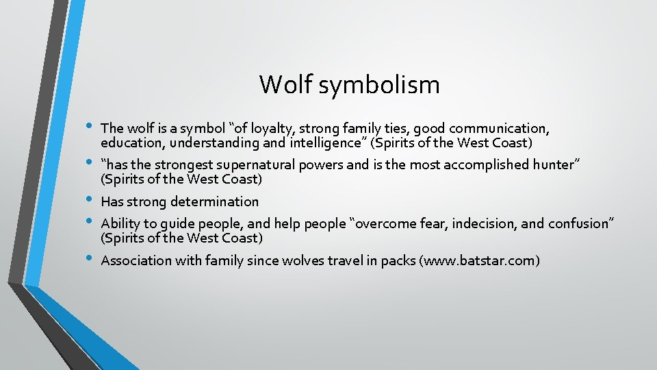 """Wolf symbolism • • • The wolf is a symbol """"of loyalty, strong family"""
