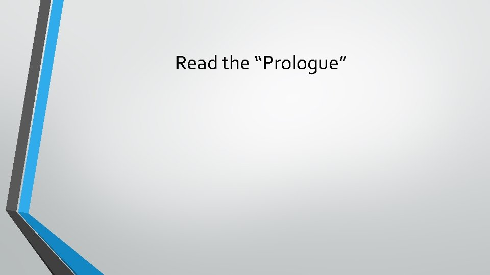 """Read the """"Prologue"""""""
