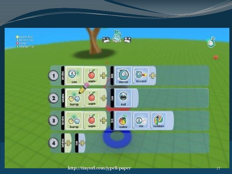 Kodu Game Lab � http: //tinyurl. com/jypeli-paper 17