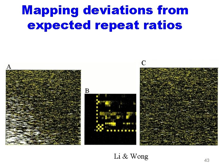 Mapping deviations from expected repeat ratios Li & Wong 43