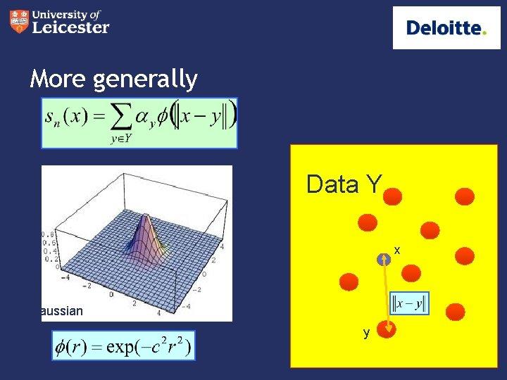More generally Data Y x Gaussian y