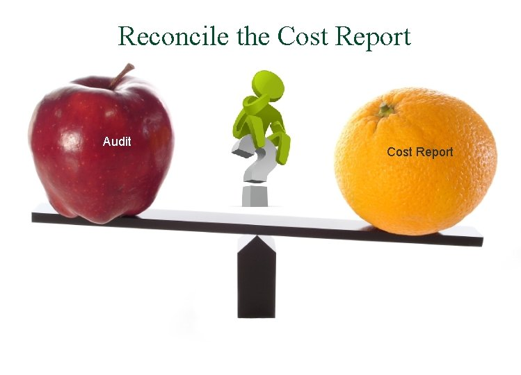Reconcile the Cost Report Audit Cost Report
