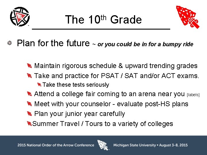 The 10 th Grade Plan for the future ~ or you could be in