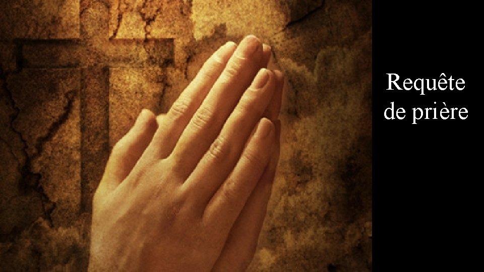 Requête de prière