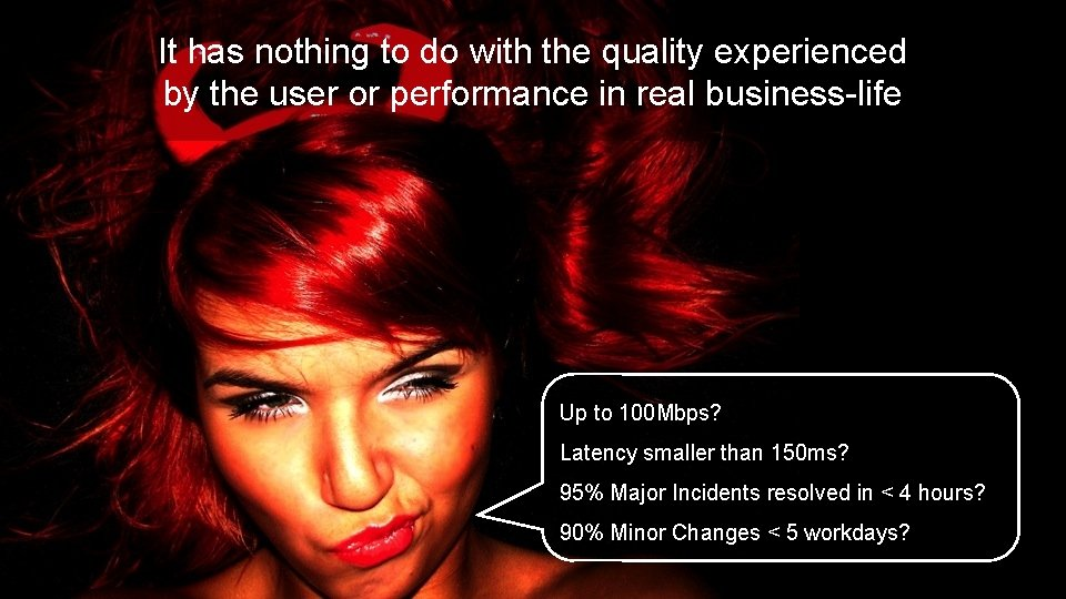 It has nothing to do with the quality experienced by the user or performance