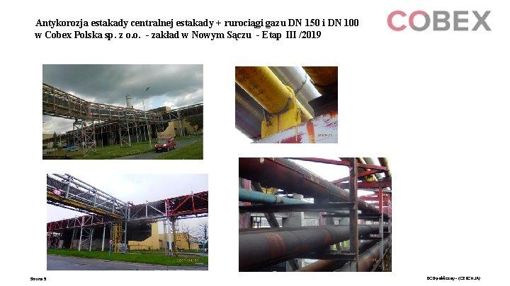 Antykorozja estakady centralnej estakady + rurociągi gazu DN 150 i DN 100 w Cobex