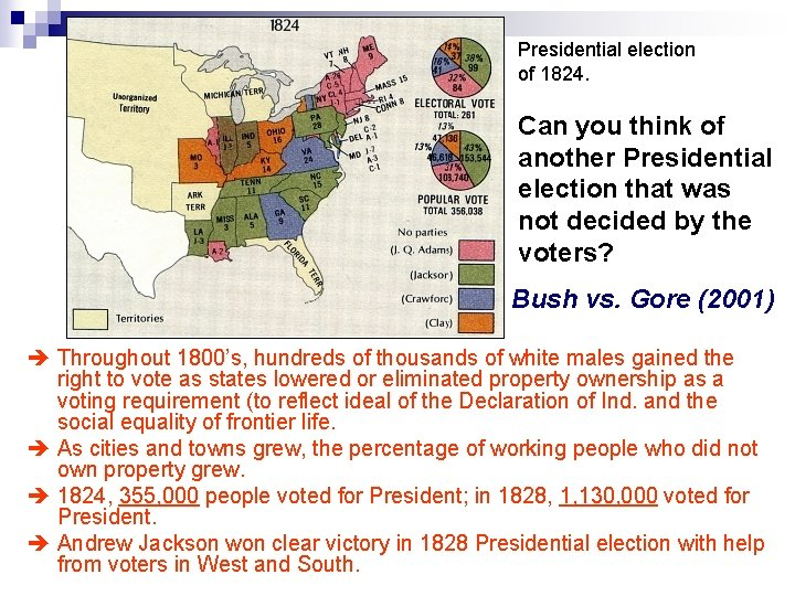 Presidential election of 1824. Can you think of another Presidential election that was not