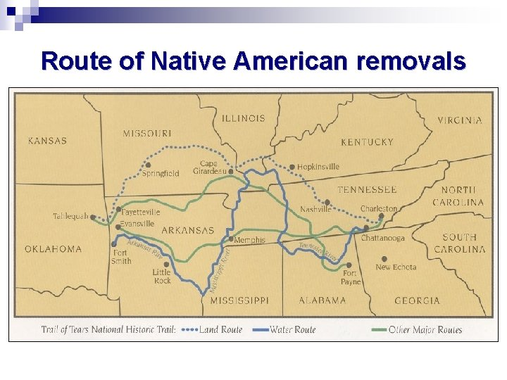 Route of Native American removals