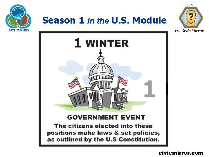 Season 1 in the U. S. Module The Civic Mirror civicmirror. com