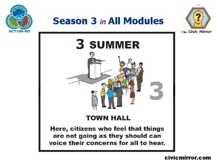 Season 3 in All Modules The Civic Mirror civicmirror. com