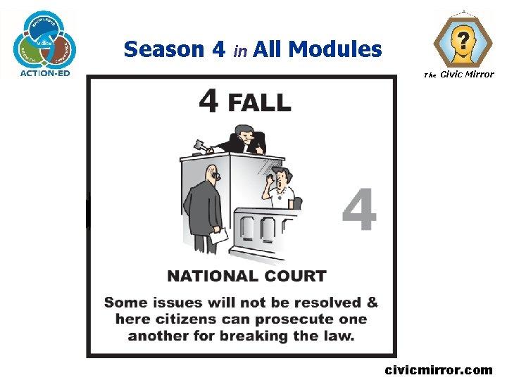 Season 4 in All Modules The Civic Mirror civicmirror. com