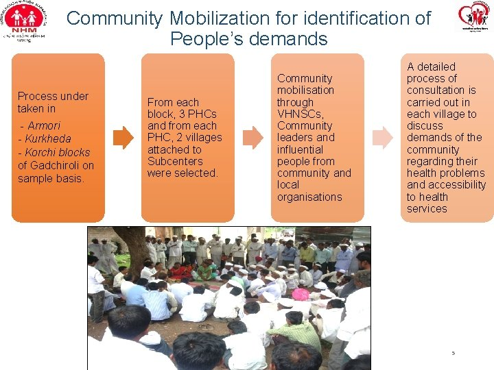 Community Mobilization for identification of People's demands Process under taken in - Armori -
