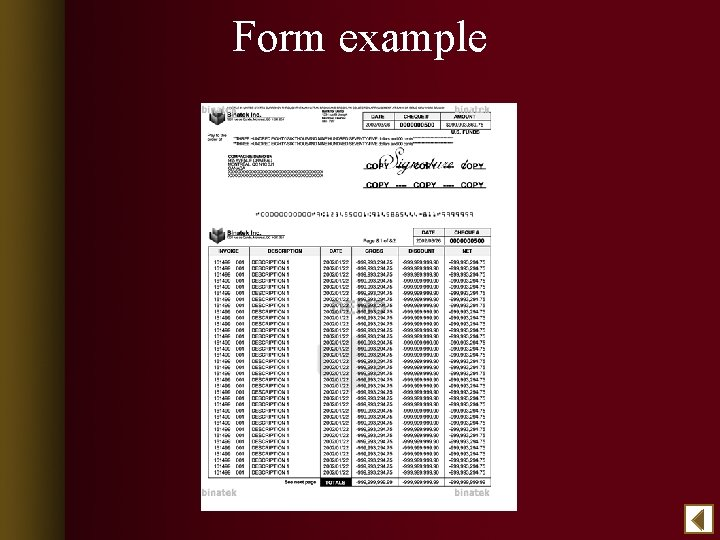 Form example