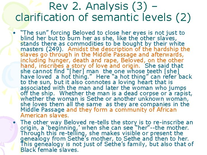 """Rev 2. Analysis (3) – clarification of semantic levels (2) • """"The sun"""" forcing"""