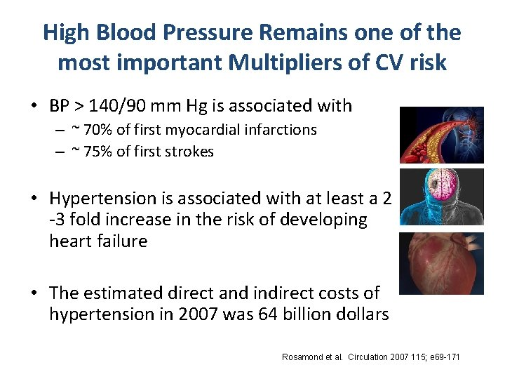 High Blood Pressure Remains one of the most important Multipliers of CV risk •