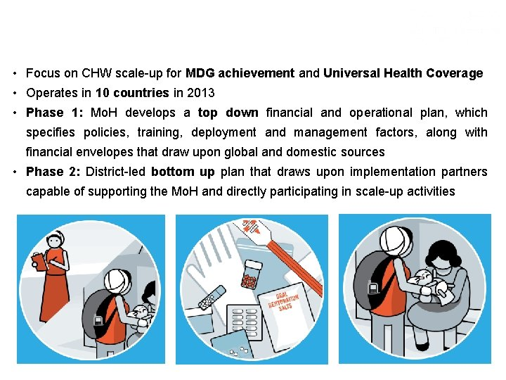 Campaign Overview • Focus on CHW scale-up for MDG achievement and Universal Health Coverage
