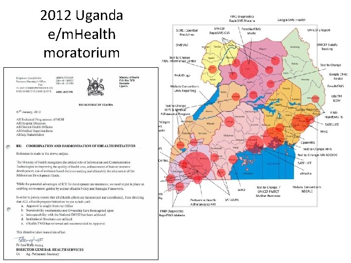 2012 Uganda e/m. Health moratorium