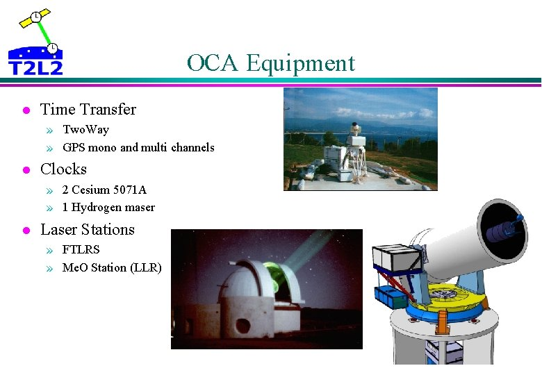 OCA Equipment l Time Transfer » Two. Way » GPS mono and multi channels