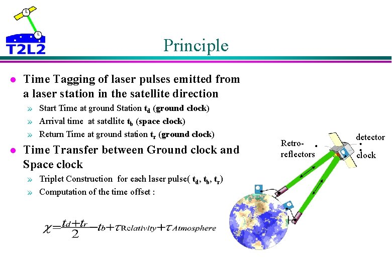 Principle l Time Tagging of laser pulses emitted from a laser station in the