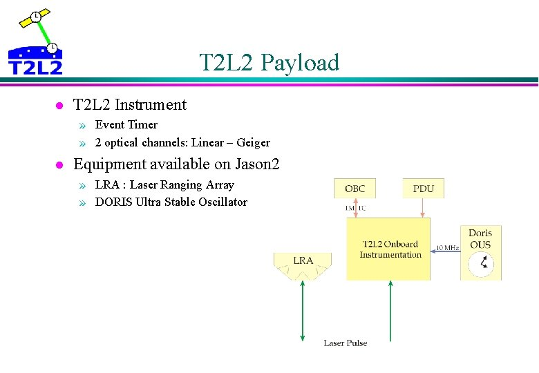 T 2 L 2 Payload l T 2 L 2 Instrument » Event Timer