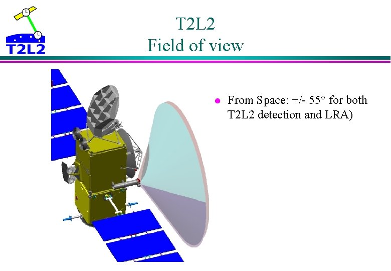 T 2 L 2 Field of view l From Space: +/- 55° for both