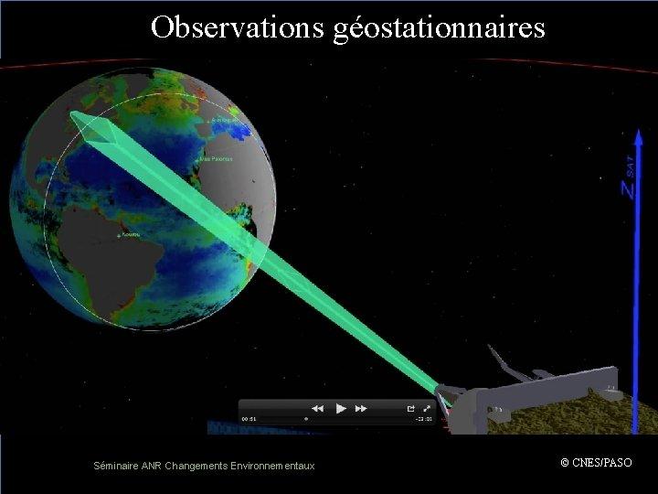 Observations géostationnaires ( Séminaire ANR Changements Environnementaux 17 – 18 avril 2013 © CNES/PASO