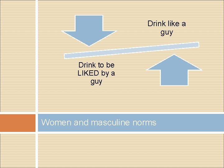 Drink like a guy Drink to be LIKED by a guy Women and masculine