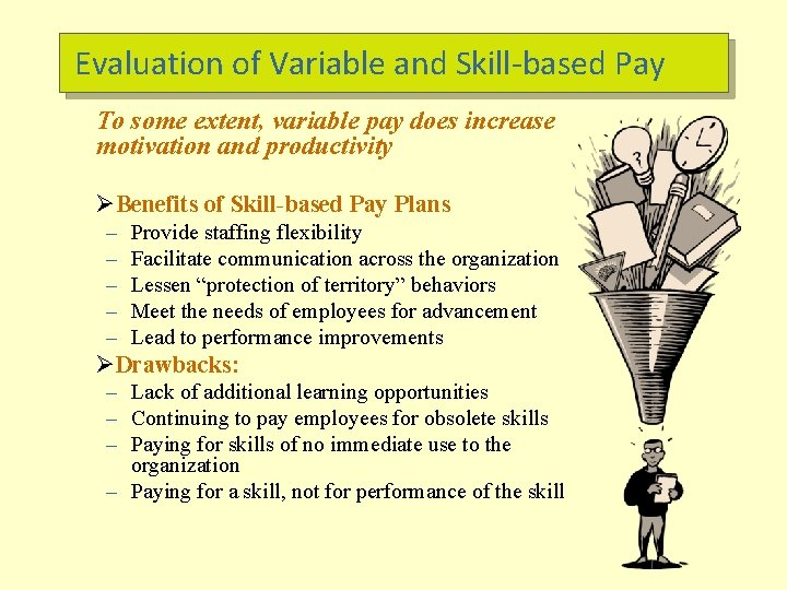Evaluation of Variable and Skill-based Pay To some extent, variable pay does increase motivation