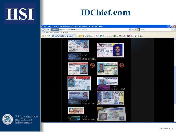 ICE IDChief. com February 2010