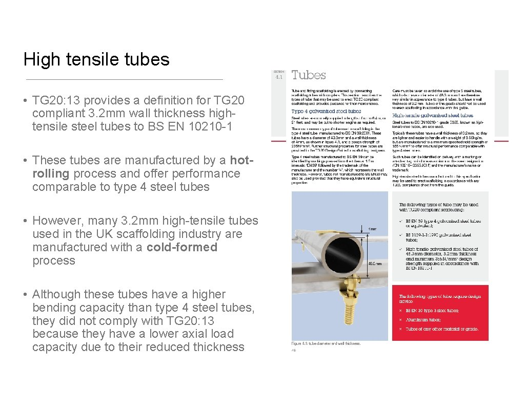 High tensile tubes • TG 20: 13 provides a definition for TG 20 compliant