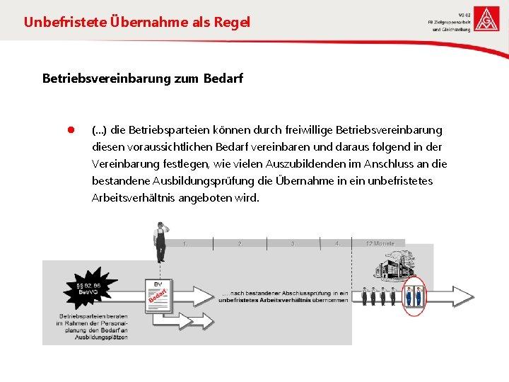 Unbefristete Übernahme als Regel Betriebsvereinbarung zum Bedarf l (…) die Betriebsparteien können durch freiwillige