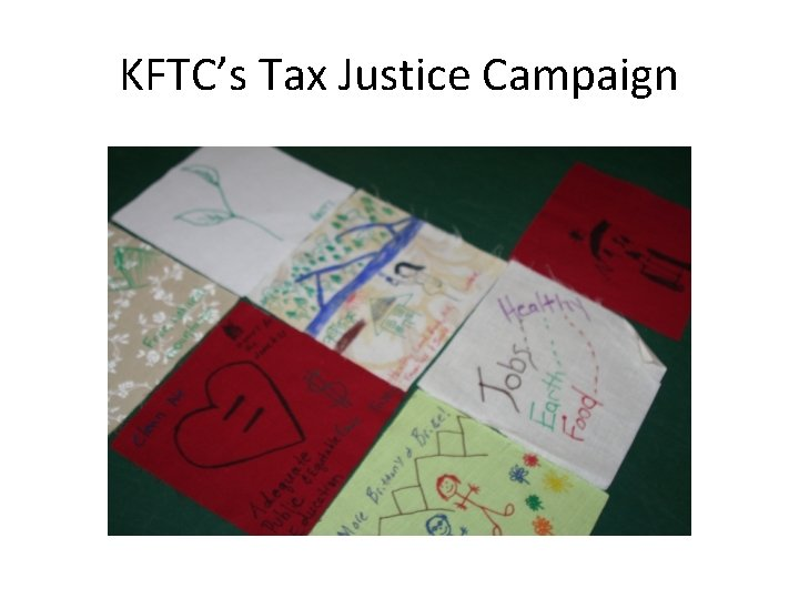 KFTC's Tax Justice Campaign