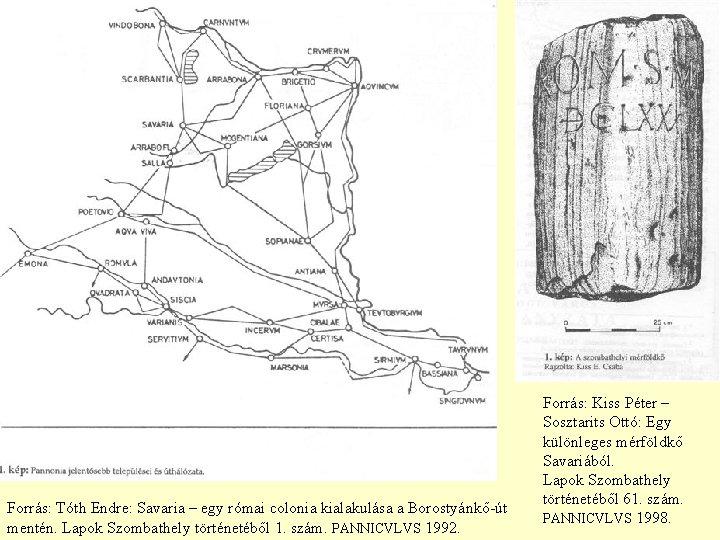 Forrás: Tóth Endre: Savaria – egy római colonia kialakulása a Borostyánkő-út mentén. Lapok Szombathely