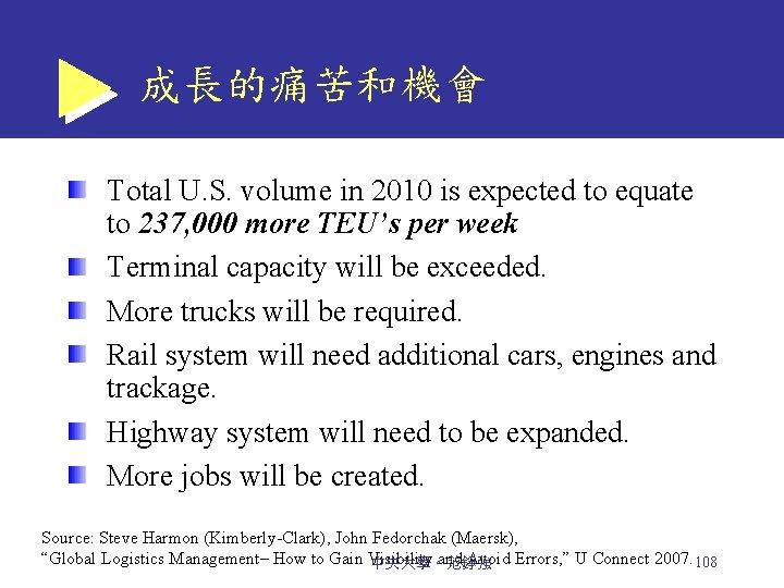 成長的痛苦和機會 Total U. S. volume in 2010 is expected to equate to 237, 000