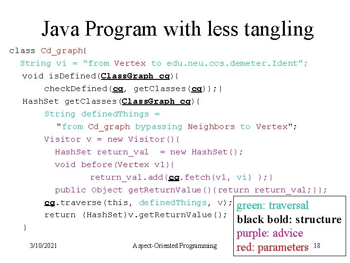 """Java Program with less tangling class Cd_graph{ String vi = """"from Vertex to edu."""