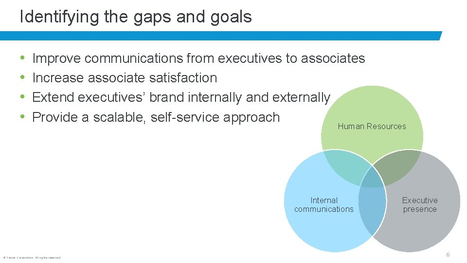 Identifying the gaps and goals • • Improve communications from executives to associates Increase