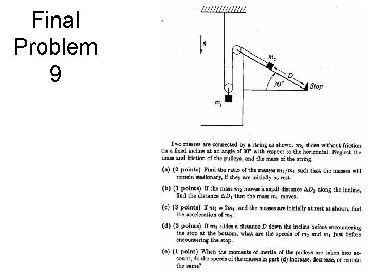 Final Problem 9