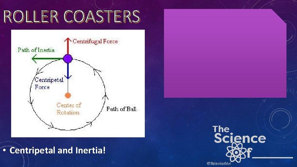 ROLLER COASTERS • Centripetal and Inertia!
