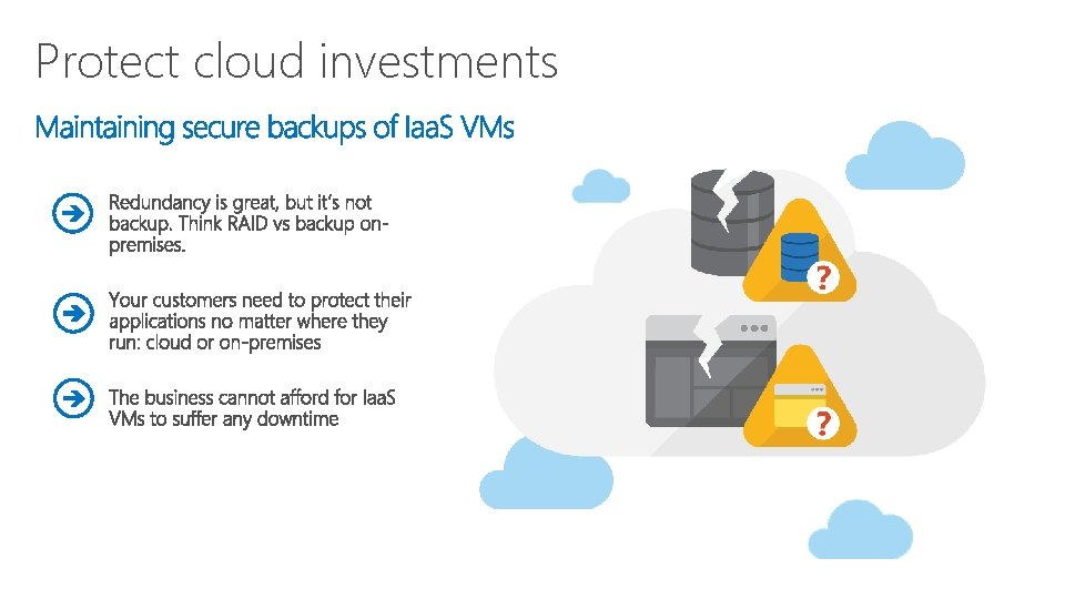 Protect cloud investments