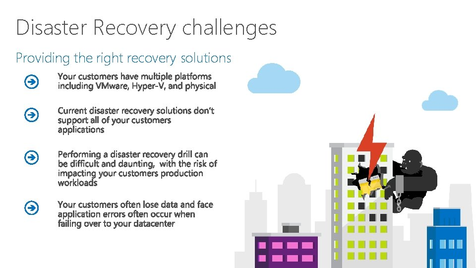 Disaster Recovery challenges Providing the right recovery solutions