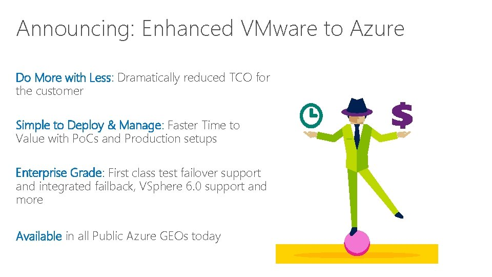 Announcing: Enhanced VMware to Azure Do More with Less: Dramatically reduced TCO for the