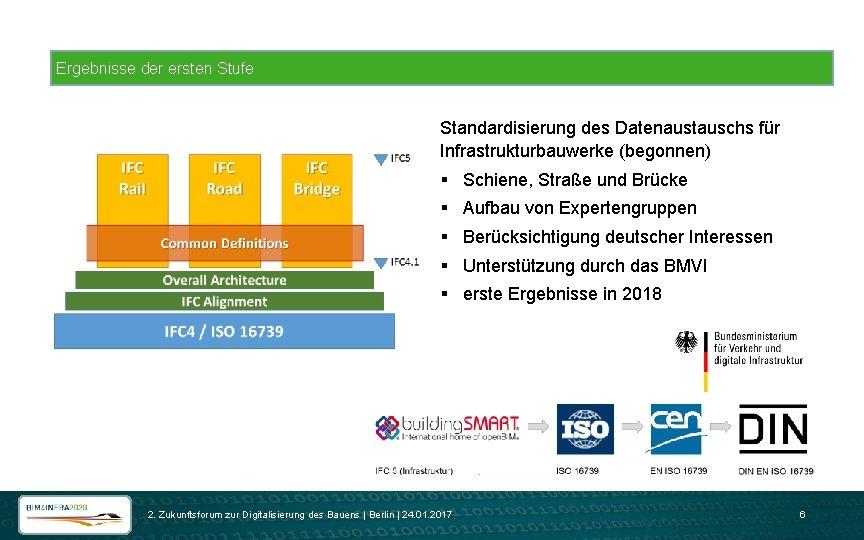 Ergebnisse der ersten Stufe Standardisierung des Datenaustauschs für Infrastrukturbauwerke (begonnen) § Schiene, Straße und
