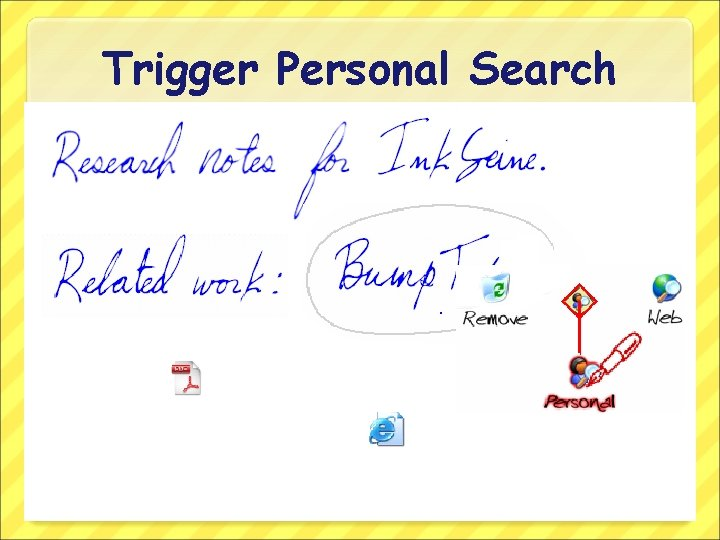 Trigger Personal Search