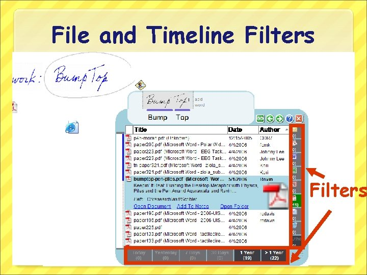 File and Timeline Filters