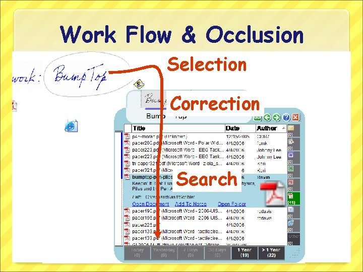 Work Flow & Occlusion Selection Correction Search