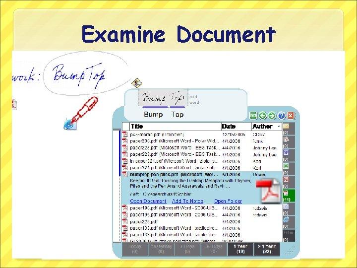 Examine Document